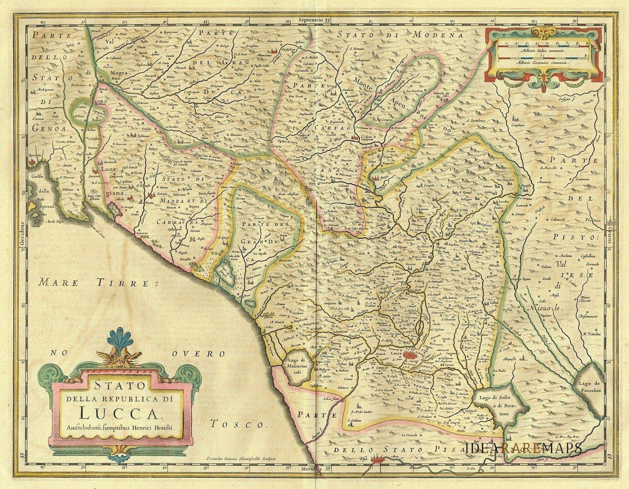 Mappa della Repubblica di Lucca