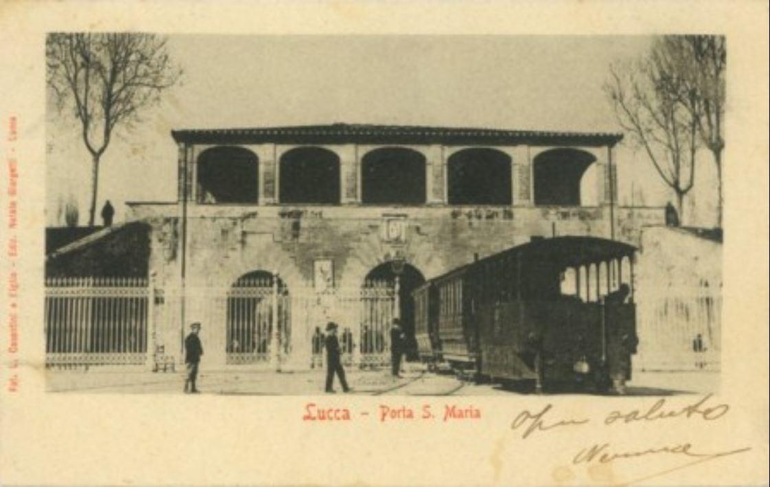 Tram a Lucca - Porta S. Maria