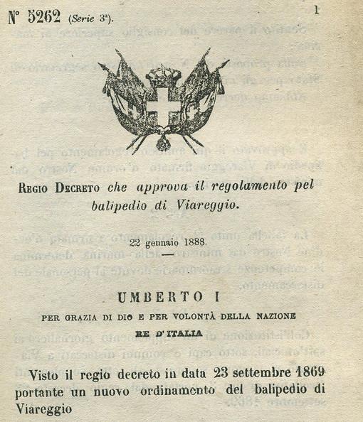Regolamento del Balipedio di Viareggio del 1888