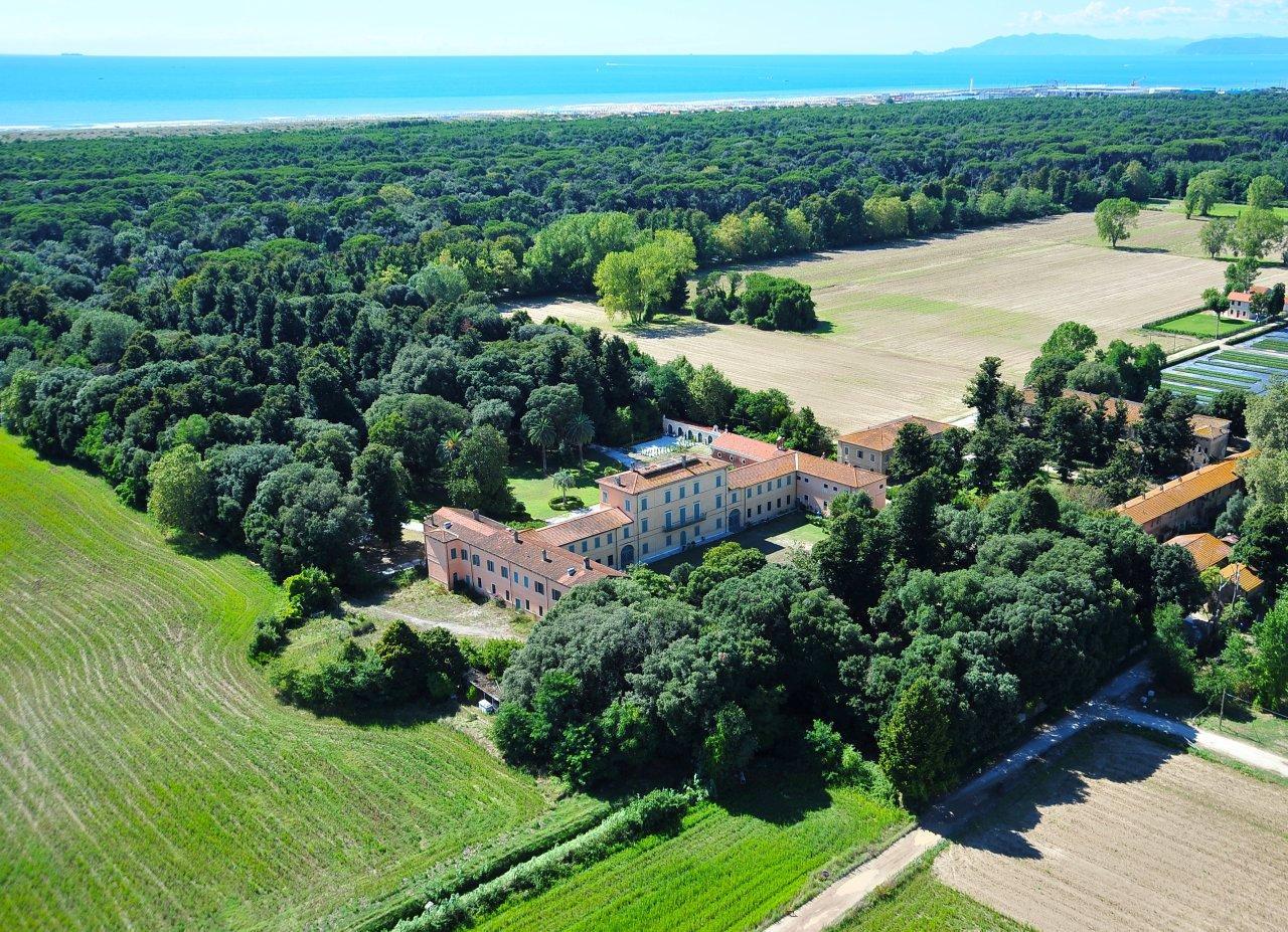 Veduta aerea di Villa Borbone