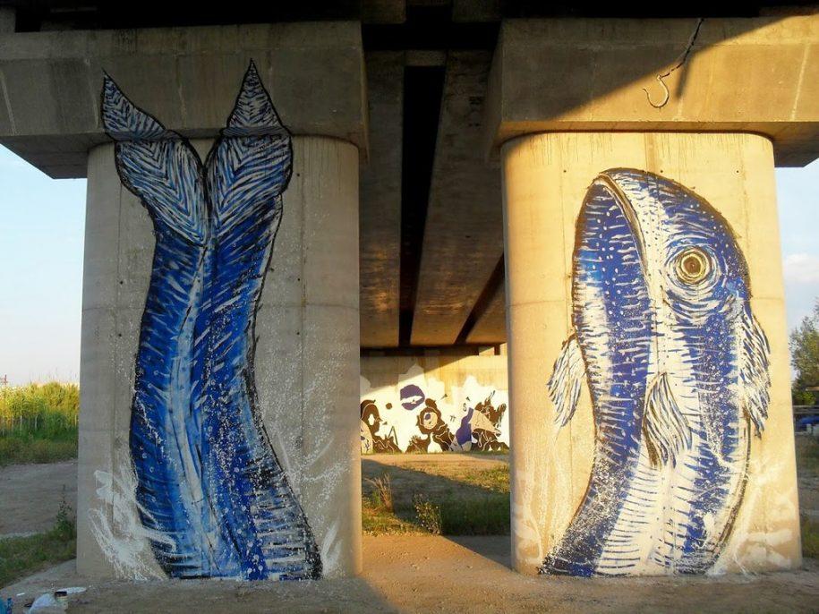 Esempio di street art a Viareggio