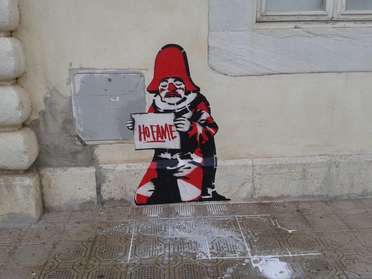 Graffito anonimo sul Palazzo delle Muse, 2015