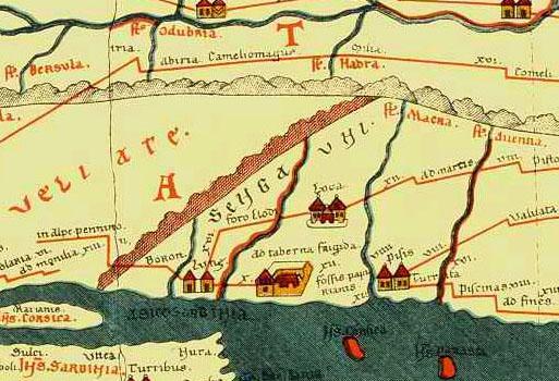 Le Fosse Papiriane nella Tabula Peutingeriana