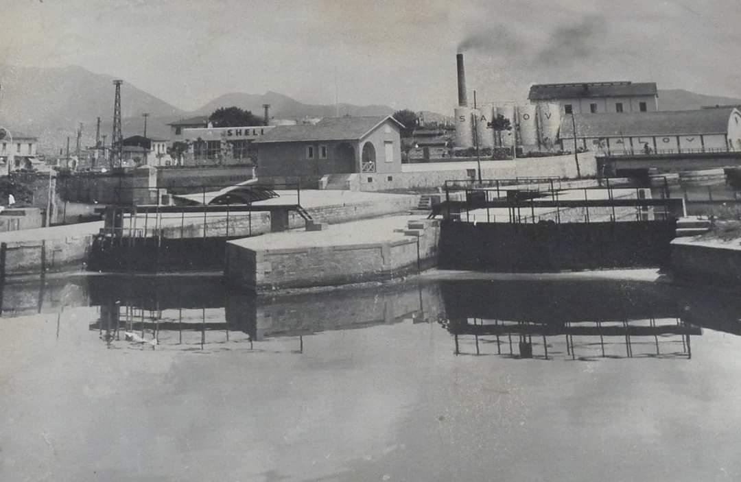 Le Porte Vinciane in una foto d'epoca