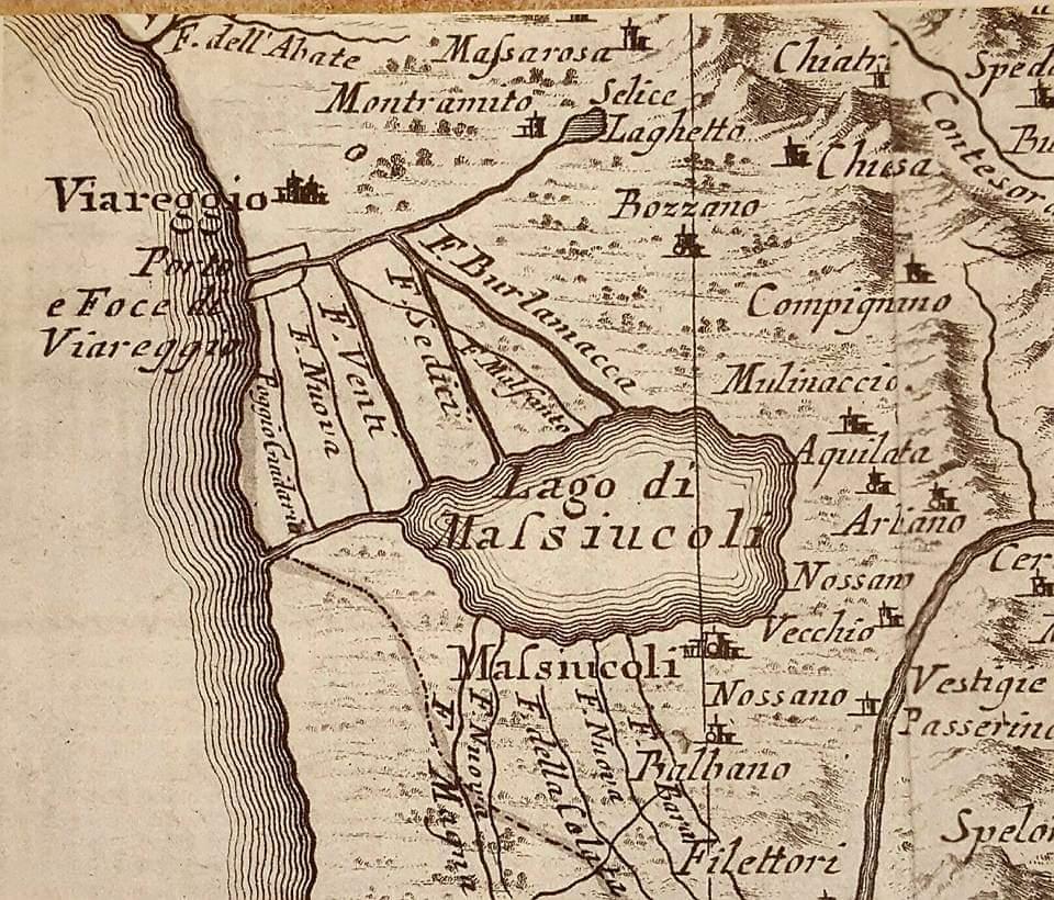 Mappa del 1783 con i principali canali