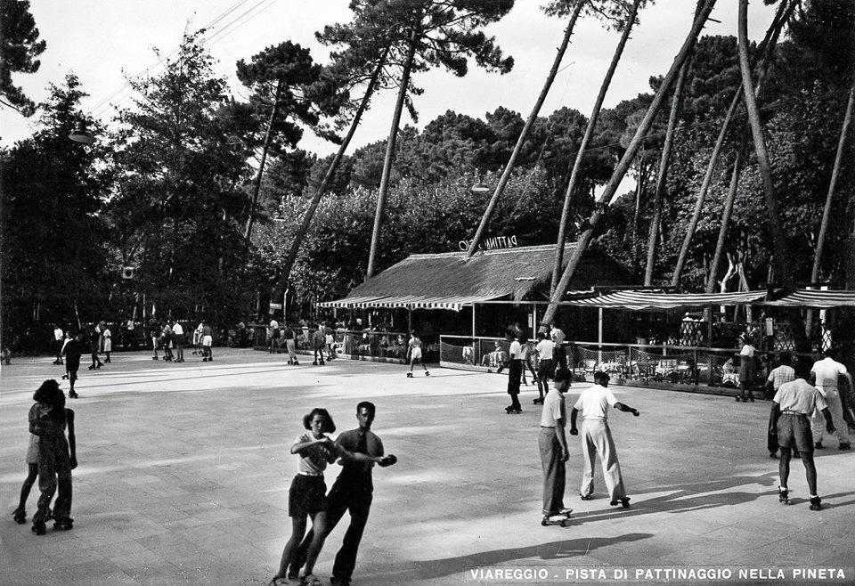 La pista di pattinaggio negli anni '60