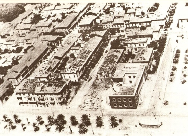 Fotografia aerea dell'esplosione al villino Montauti