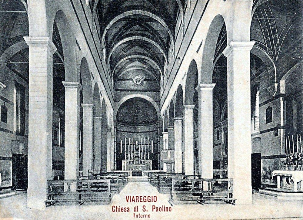 Interno della Chiesa di San Paolino nel 1904